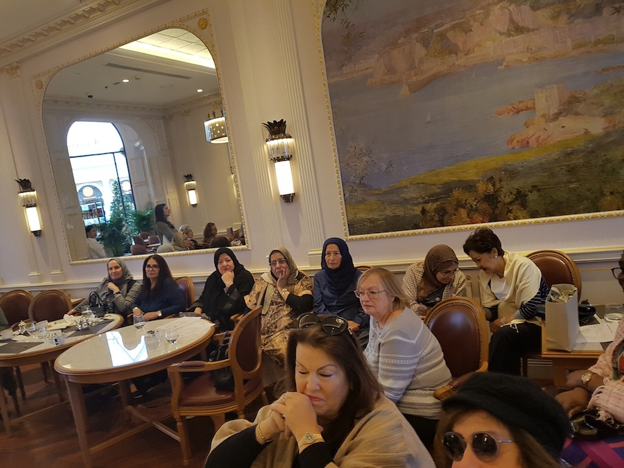 Bahrain Garden Club members' meet for lunch at Angelina.
