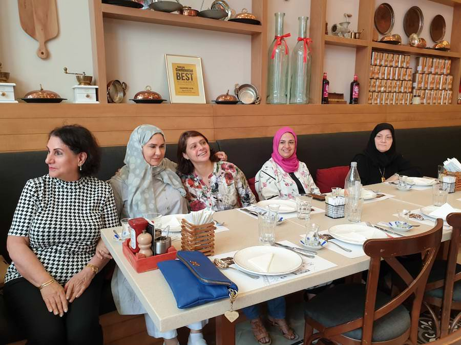 Bahrain Garden Club members' gathering over a nice Turkish lunch.